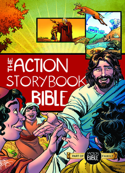 The Action Storybook Bible by Catherine Devries & Sergio Cariello